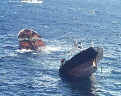 """""""Tanklaivio """"Prestige"""" avarija prie Ispanijos krantų"""""""