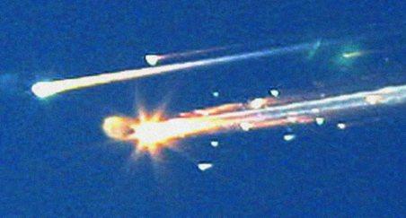 """"""" Kosminio laivo """"Columbia"""" sprogimas Teksase"""""""